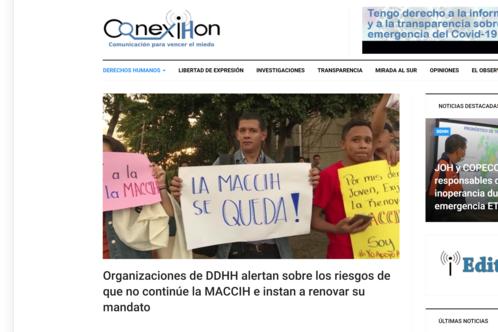 Organizaciones de DDHH alertan sobre los riesgos de que no continúe la MACCIH e instan a renovar su mandato