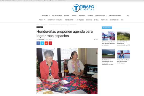 Hondureñas proponen agenda para lograr más espacios